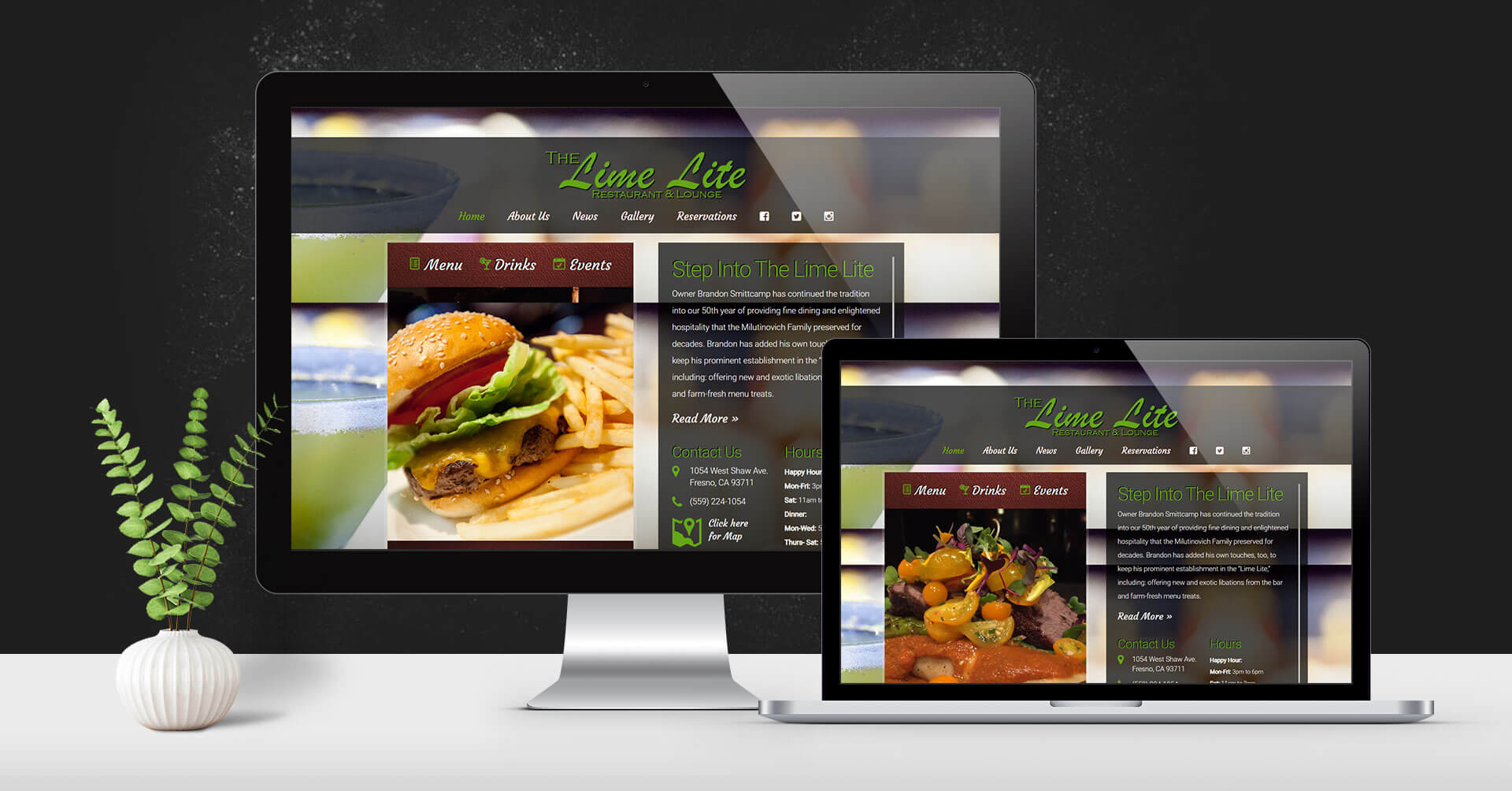 Portfolio Digital Attic The Lime Lite Restaurant Devices