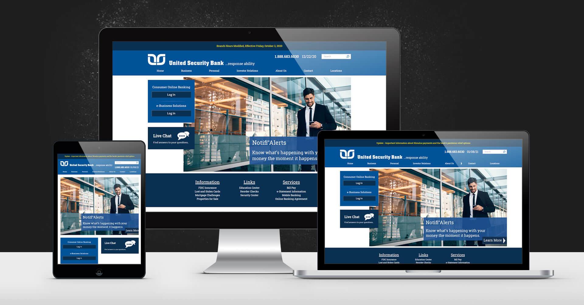 portfolio digital attic united security bank devices
