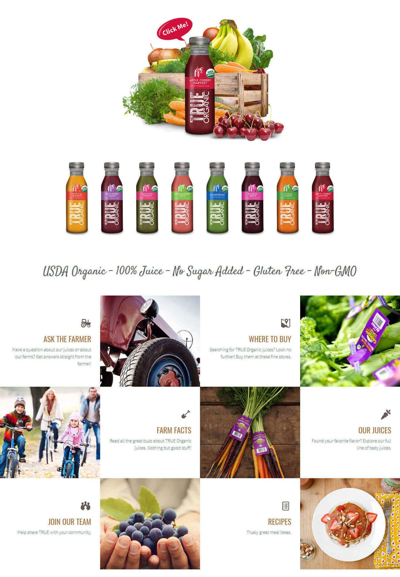 Portfolio Digital Attic True Organic Juice Body