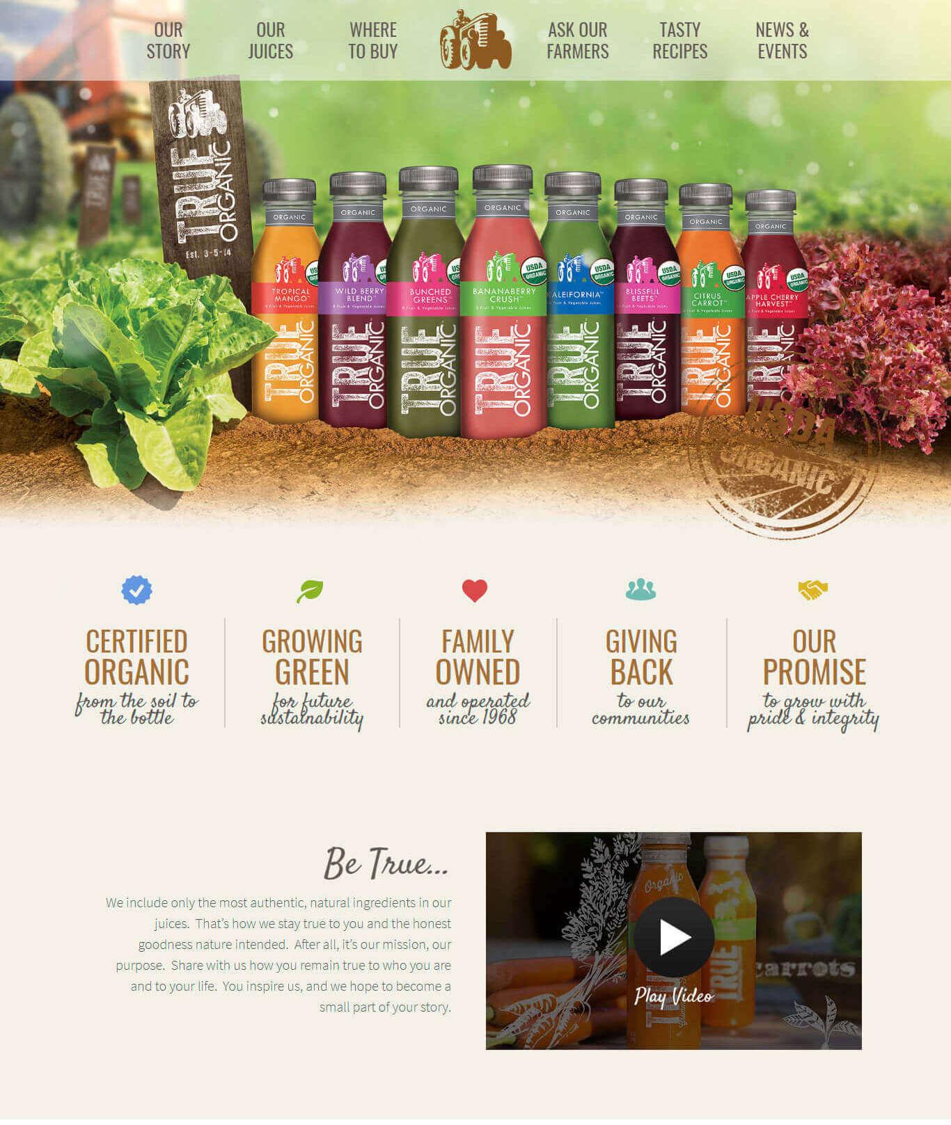 Portfolio Digital Attic True Organic Juice Cover