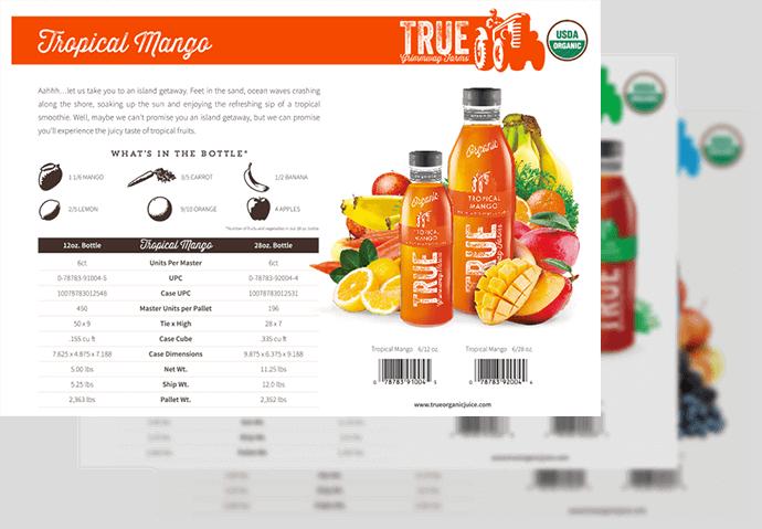 Portfolio Digital Attic True Organic Juice Offline Product Launch