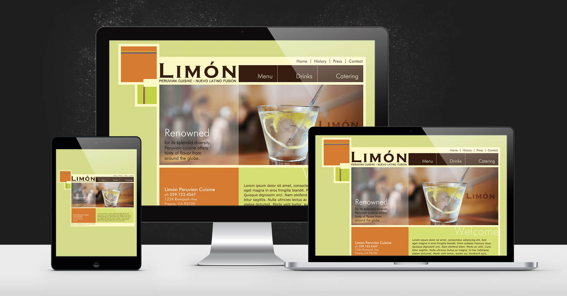 portfolio digital attic limon peruvian cuisine devices