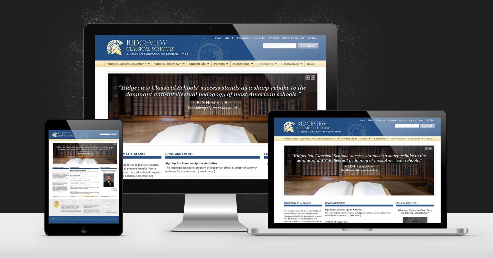 portfolio digital attic ridgeview classical school devices