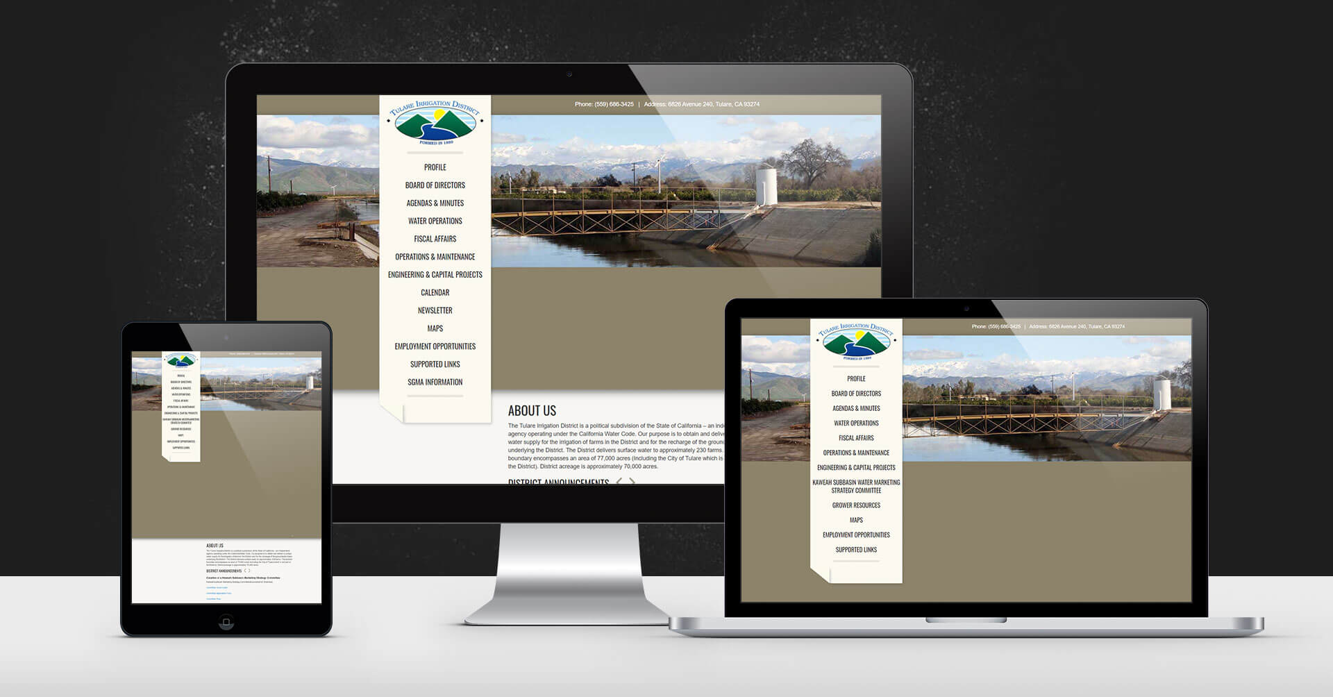 portfolio digital attic tulare irrigation district devices