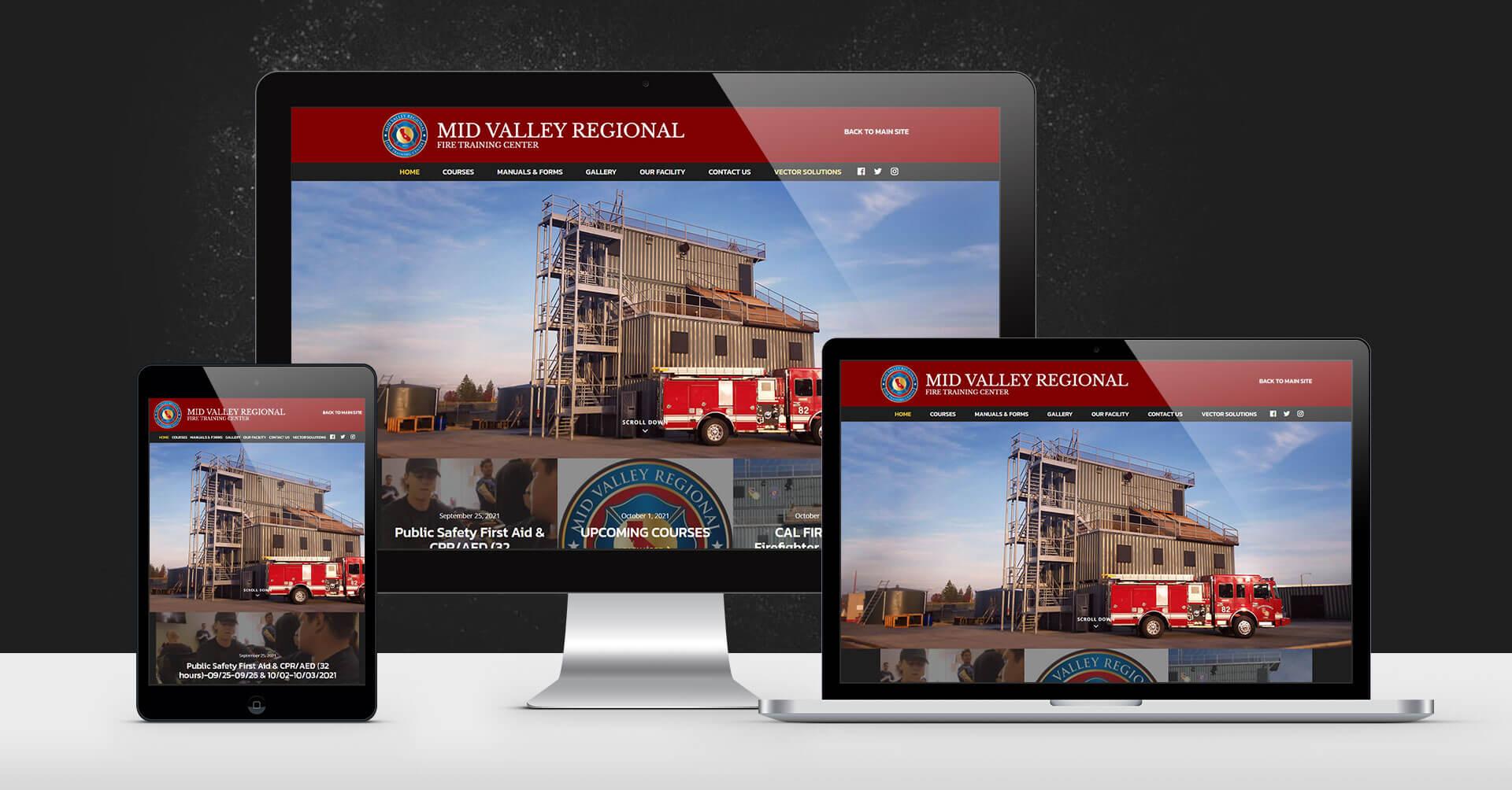 portfolio digital attic midvalley regional fire training center device image
